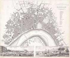 1832 S.D.U.K. Map of Bordeaux, France - Geographicus - Bordeaux-SDUK-1832 - Bordeaux — Wikipédia