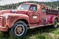 TITLE: Crawford Fire Truck A great find in southern Colorado. Printed on professional photo paper for vivid colors and high quality. Shipped in a