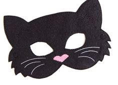 Kids Cat Mask, Black Cat Costume, Felt Mask, Kids Face Mask, Animal Mask, Halloween Costume, Pretend Play, Dress Up, Party Favors, Costume