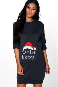 7f574f9d3eabb Maternity Slogan Christmas Pyjama Set | Products | Christmas pajamas, Pajama  set, Boohoo maternity