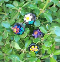 Flower rings with polymer clay