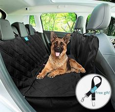 Duke & Dixie Dog Car Seat Cover Backseat Hammock Waterproof Dogs Pet Back Seat Protector Non Slip Rubber Backing Heavy Duty with Side Flaps Covers Washable for Trucks Cars Suv - Dog Store Bucket Seat Covers, Pet Seat Covers, Electric Dog Collar, Plastic Dog Crates, Large Dog Crate, Wireless Dog Fence, Dog Car Seats, Pet Dogs, Pets