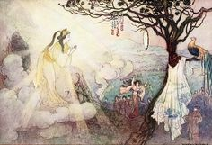 """""""The Story of Susa, the Impetuous I"""" - Green Willow and Other Japanese Fairy Tales by Grace James, 1910"""