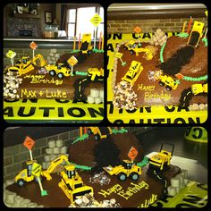 Boys' Construction Birthday Cake! The cake Ang and I did... thought I would share it!