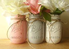 Vintage vases with flowers