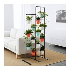 SOCKER indoor/outdoor bendable plant stand, black or white - IKEA