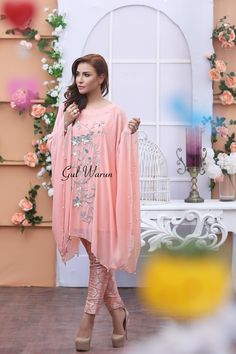 Latest Pakistani Cape Style Dresses 2017-2018 Designer Collection | BestStylo.com