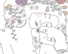 Coloriage Klimt Coloring Pages Kunst Gem 228 Lde Ber 252 Hmte