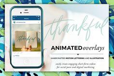 Animated Overlay - Thankful (Script) by Baron Art Co. on @creativework247