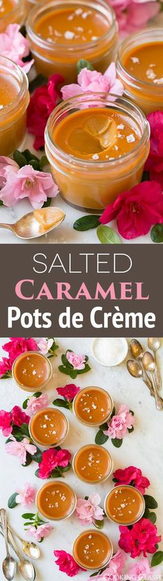 Salted Caramel Pots de Creme - basically thee best dessert EVER! I'm seriously in love with these!