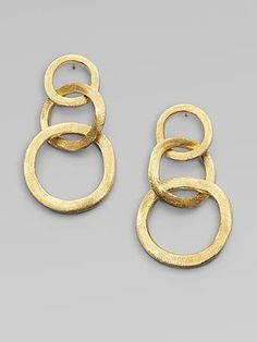Marco Bicego& Jaipur Link earrings - I fell in love with these when I first. Wire Jewelry, Jewelry Gifts, Gold Jewelry, Jewelry Accessories, Jewelry Design, Handmade Jewellery, Earrings Handmade, Jewelry Ideas, Jewelry Bracelets