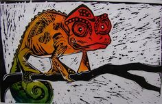 Africa series - Chameleon by Philipe Marchiolli