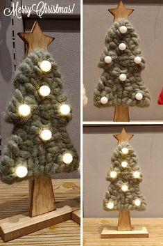 43c2ae00e5541 Cozy LED Felt Christmas Tree Lights Christmas Wood Decorations Rustic New  Year  Unbranded Wood Decorations