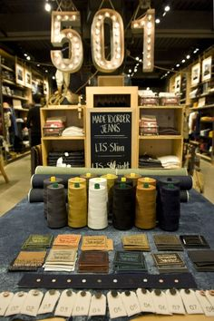 Levi's made to order- taking the jean experience to the next level #shoppermarketing #retail