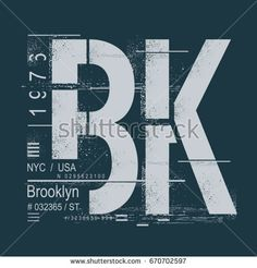 Brooklyn typography, tee shirt graphics, vectors