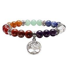 AAA pierres naturelles arbre de vie OR ROSE Fil Enveloppé Goutte Chakra Perles Pendentif