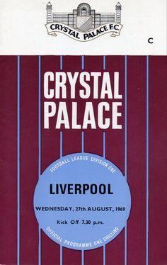 British Football, First Football, Football Program, Crystal Palace, Division, Programming, Liverpool, Park, Crystals