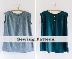 Mercer Tunic (PDF Sewing Pattern) Women's Apparel