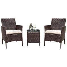 Flamaker 3 Pieces Patio Furniture Set Modern Outdoor Furniture Set