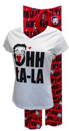 Betty Boop Ohh La La Pajama Set