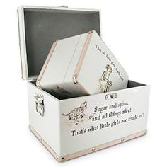 'What are Little Girls Made Of' Keepsake Boxes. What a delightful gift for a baby girls Christening or Birthday