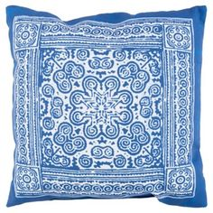 Check out this item at One Kings Lane! Mirta 18x18 Outdoor Pillow, Indigo