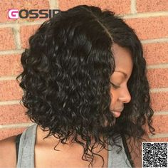 84.31$  Watch now - http://alirrs.worldwells.pw/go.php?t=32781120441 - Full Lace Front Wigs Human Hair Bob Wig Unprocessed Indian Hair Full Lace Wigs Natural Wave Curly Short Wigs For Black Women 84.31$