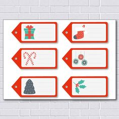 Christmas Tags / Printable Gift Tag / DIY by printablelovers