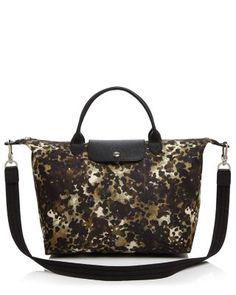 LONGCHAMP Medium Le Pliage Neo Fantaisie Satchel. #longchamp #bags #shoulder bags #hand bags #nylon #leather #satchel #
