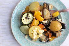 Roasted Vegetables with Lentils & Feta - Fragata.