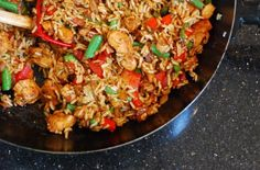Spicy Singapore-Style Chicken Fried Rice - Foodista.com