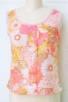 Sorbetto Top - Make a unique fashion statement this summer and start making your own clothes. Cool, comfy and colorful, this Sorbetto Top is a free summer sewing pattern that will dazzle any fashion designer! Made out of a pastel and lightweight fabric, this DIY tank top has just the right amount of breezy style to make it perfect for summer while still being modest enough to wear to the office.