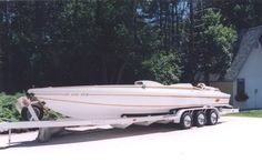 30 Feet 1991 Calibre Race Boat Engine: Year: 1944 Make: Allison V1710, 12 cylinder supercharged Cylinders: 12 cylinders Hours: Approx. 15, test hours only Max Speed: 137 mph Fuel Type: Pump gas