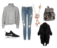 """""""Untitled #94"""" by heta-makinen on Polyvore featuring Designers Remix, Frame Denim, Disney, NIKE and NLY Accessories"""