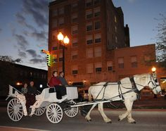 Looking to do something different this Valentine's Day? Surprise your sweetheart with a romantic carriage ride through Downtown Bryan. Don't have a date? Not a problem! Grab your friends and join the fun. Contact Hidden Oasis Carriage Company for details!