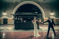 Vintage look wedding photography at Los Angeles union station by http://www.genieinabottle-productions.com  #unionstation #waitinghall #weddingphotography #laweddingphotographer #brideandgroom #losangeles #couple #love #genieinabottle #photosession #k&nevents #genieinabottleproductions #vintagelook #vintage #fun #goodtimes #bigday #information