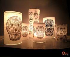 DIY calaveras candle jar