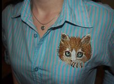 Woman shirt with free embroidery design - Free embroidery designs - Gallery - Machine embroidery forum
