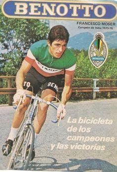 Francesco Moser, Benotto, Italian champion, 1975-76.