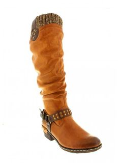 Ladies boots with a cushioned in-sole and Man Made upper.