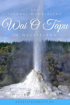 Wai-O-Tapu auf der Nordinsel Neuseelands ist für seine vulkanische Aktivität bekannt. Hier findest Du Geysire, blubbernden Schlamm und jede Menge Dampf. Ein Must Do, wenn man in Neuseeland ist. #WaiOTapu Wai O Tapu #Rotorua #New Zealand