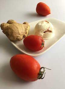 Helado de tomate