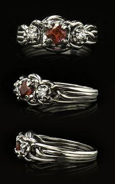 Unique Engagement Ring: Guinevere Royale Puzzle Ring