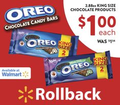 Did you know OREO Chocolate King Size Candy Bars are on rollback at Walmart for $1? Great deal to satisfy your sweet tooth. Plus, you can win one of six $50 Walmart Gift Cards or one $200 Grand Prize Walmart Gift Card. Enter here ---> (ad) http://justmarla.com/oreo-chocolate-candy-bars/ #OREOChocolate #KingSizeRollBack #Walmart #IC