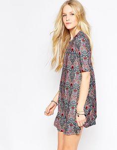 Glamorous+Printed+Swing+Dress