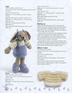 22 Ideas Crochet Amigurumi Doll Free Patterns Libraries For 2019 Knitting Dolls Free Patterns, Knitted Dolls Free, Knitted Bunnies, Knitted Teddy Bear, Knitted Animals, Crochet Dolls, Knitting Bear, Little Cotton Rabbits, Amigurumi Doll