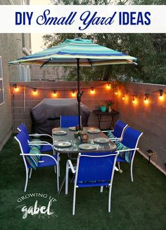 Simple DIY small backyard ideas on a budget are perfect for urban dwellers with patios, a deck, or just a small space.  Click now to see how to easily transform your small yard into an oasis! AD MyOutdoorOasis @lowes