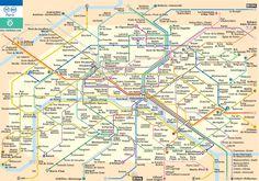 La mappa della metropolitana di Parigi. Muoversi dappertutto, con estrema comodità (e senza troppi pensieri).
