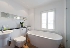 Mount Ararat Road, Richmond, — The Modern House Estate Agents: Architect-Designed Property For Sale in London and the UK Bathroom Inspiration, Bathroom Ideas, Downstairs Bathroom, Beautiful Bathrooms, Clawfoot Bathtub, Victorian Homes, Property For Sale, Freestanding Tub, Gladstone