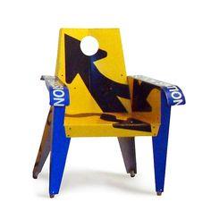 Merge Ahead Broadway Armchair Metal Chair Created by Boris Bally